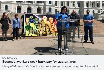 Essential Workers Seek Backpay